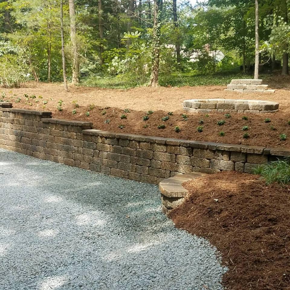 Carolina Greenscapes stone wall