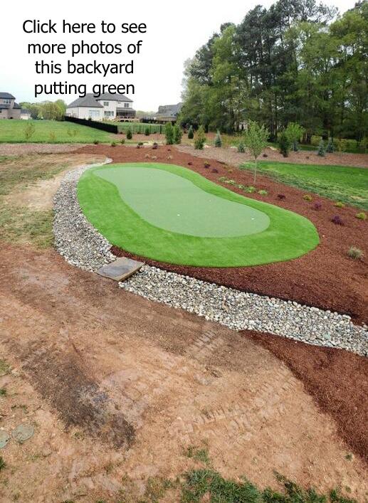 Carolina Greenscapes Backyard Putting Green